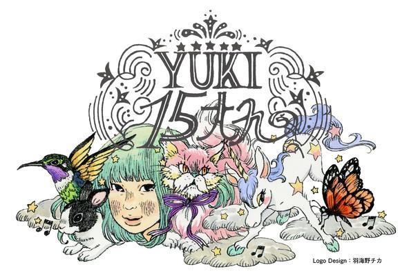 YUKI 15周年ロゴ (okmusic UP's)