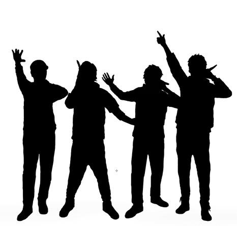 GReeeeN シルエットロゴ (okmusic UP's)