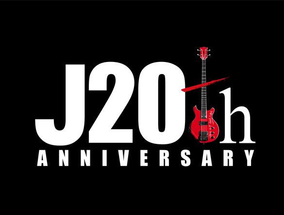 J 20th Anniversary ロゴ (okmusic UP's)