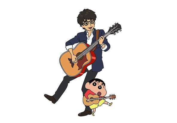 高橋優×クレヨンしんちゃん アニメ画像 (okmusic UP\'s)