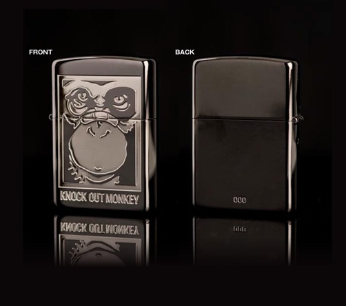 Zippo×KNOCK OUT MONKEYオリジナルZippoライター(ブラックニッケルカラー) (okmusic UP's)