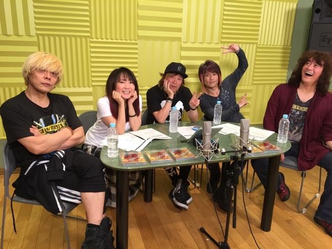 ライブBD&DVD発売記念特別生番組「MOTTO ! MOTTO !! Radio 第1回」に出演したJAM Projectメンバー