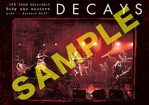 DVD 『DECAYS LIVE TOUR 2016-2017 Baby who wanders Live at Akasaka BLITZ』アナザージャケット (okmusic UP's)