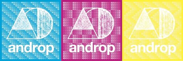 andropモノグラムステッカー(3色) (okmusic UP's)