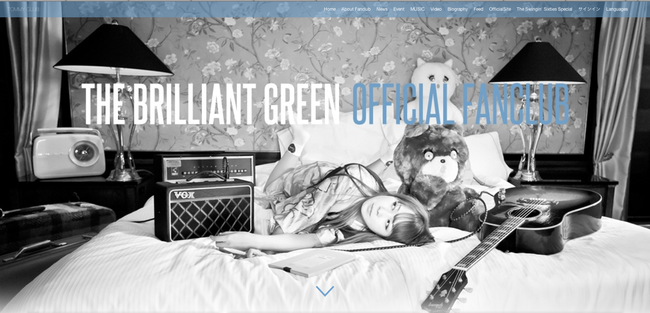 the brilliant green Official Fanclub「TOMMY CLUB(仮)