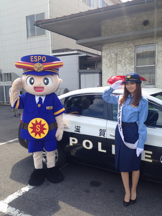 橘ゆりかが滋賀県東近江警察署で一日警察署長 (okmusic UP\'s)