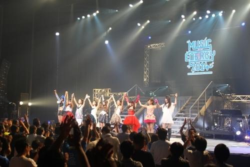 """スペースクラフトグループ所属アーティストたちが一堂に会した音楽イベント""""MUSIC ENERGY 2014""""ステージの模様"""