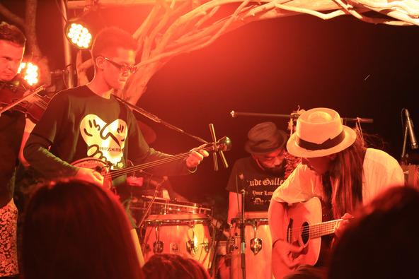 10月6日(月)@石垣島 島野菜カフェリハロウビーチ (okmusic UP's)