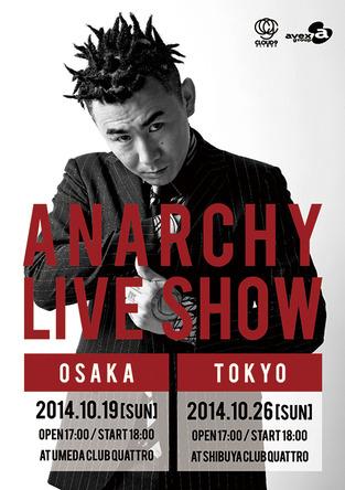 """『ANARCHYワンマンライブ """"LIVE SHOW""""』フライヤー (okmusic UP's)"""