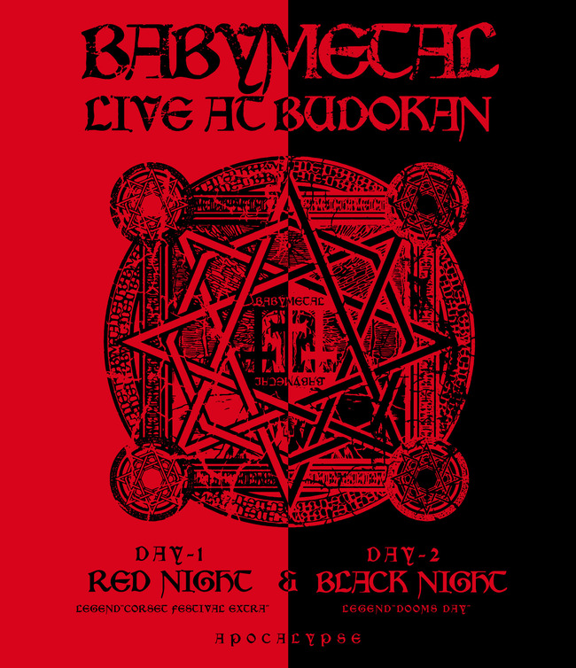 DVD&Blu-ray 『LIVE AT BUDOKAN 〜RED NIGHT & BLACK NIGHT APOCALYPSE〜』