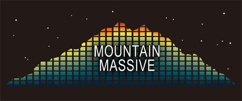 『MOUNTAIN MASSEIVE』ロゴ (okmusic UP\'s)