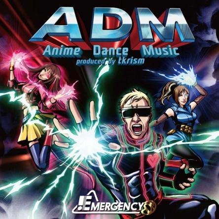 アメコミ風のイラストとなった『ADM -Anime Dance Music produced by tkrism-』ジャケット画像 (okmusic UP\'s)