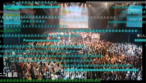 """弾幕で覆い尽くされた""""VocaNicoNight 4""""ニコニコ生放送の模様 (okmusic UP\'s)"""