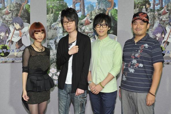左からYun*chi、前野智昭、寺島拓篤、石平信司監督 (okmusic UP's)