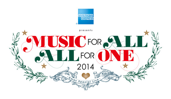 『MUSIC FOR ALL, ALL FOR ONE』ロゴ (okmusic UP\'s)