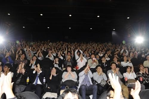 『劇場版 魔法少女まどか☆マギカ [新編]叛逆の物語』最速上映カウントダウンイベントの模様 (C)Magica Quartet/Aniplex・Madoka Movie Project Rebellion(okmusic UP's)