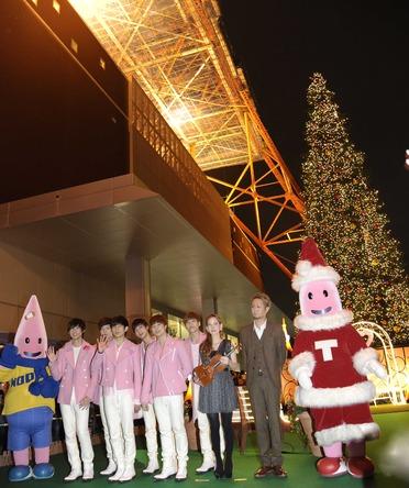 11月3日@東京タワー・クリスマス・イルミネーション点灯式 (okmusic UP\'s)