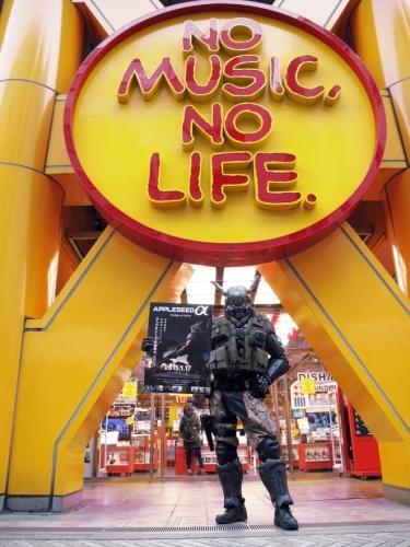 """『アップルシード アルファ』主人公""""ブリアレオス""""が自らタワーレコードを訪問 Motion picture (C)2014 Lucent Pictures Entertainment Inc./Sony Pictures Worldwide Acquisitions Inc., All Rights Reserved. Comic book (C)2014 Shirow Masamune/Crossroad"""