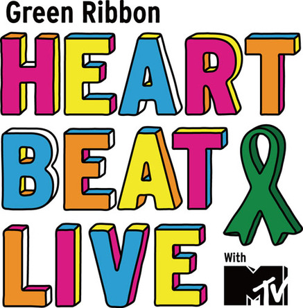 『Green Ribbon HEART BEAT LIVE with MTV』ロゴ (okmusic UP\'s)