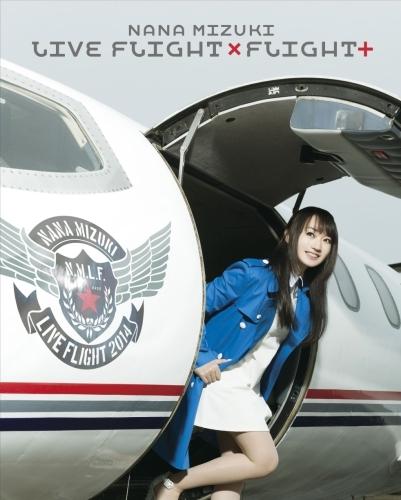 通算3作目のBDランキング総合首位を獲得した、水樹奈々「NANA MIZUKI LIVE FLIGHT×FLIGHT+」Blu-rayジャケット画像