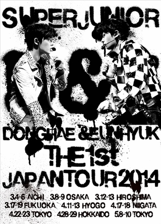 DVD『SUPER JUNIOR D&E THE 1st JAPAN TOUR 2014』【2DVD】 (okmusic UP's)