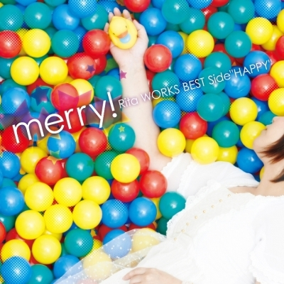 "Rita『merry! -Rita WORKS BEST Side""HAPPY""-』ジャケット画像 (okmusic UP\'s)"