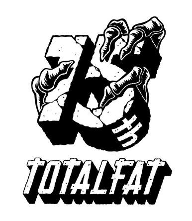 TOTALFAT 15年記念ロゴ (okmusic UP's)