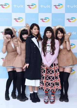 NANAE&トミタ栞、あゆみくりかまき 集合写真  (okmusic UP's)