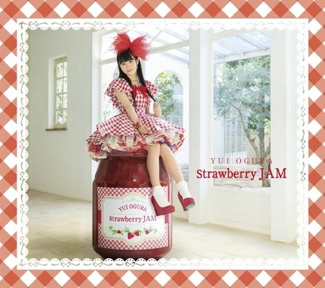 オリコンデイリーCDアルバムランキング初登場3位を記録した、小倉唯1stアルバム『Strawberry JAM』(画像はCD+BD盤ジャケット)