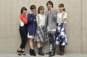 合同イベントに登壇した(写真左より)植田佳奈、名塚佳織、門脇舞以、島﨑信長、井上麻里奈