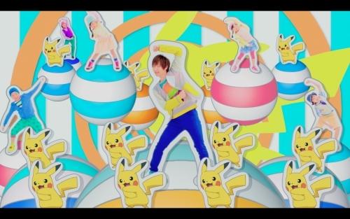 """""""ピカチュウ""""がオリジナル描き下ろしアニメで出演している「ゲッタバンバン」のミュージックビデオ (C)Nintendo・Creatures・GAME FREAK・TV Tokyo・ShoPro・JR Kikaku (C)Pokemon"""