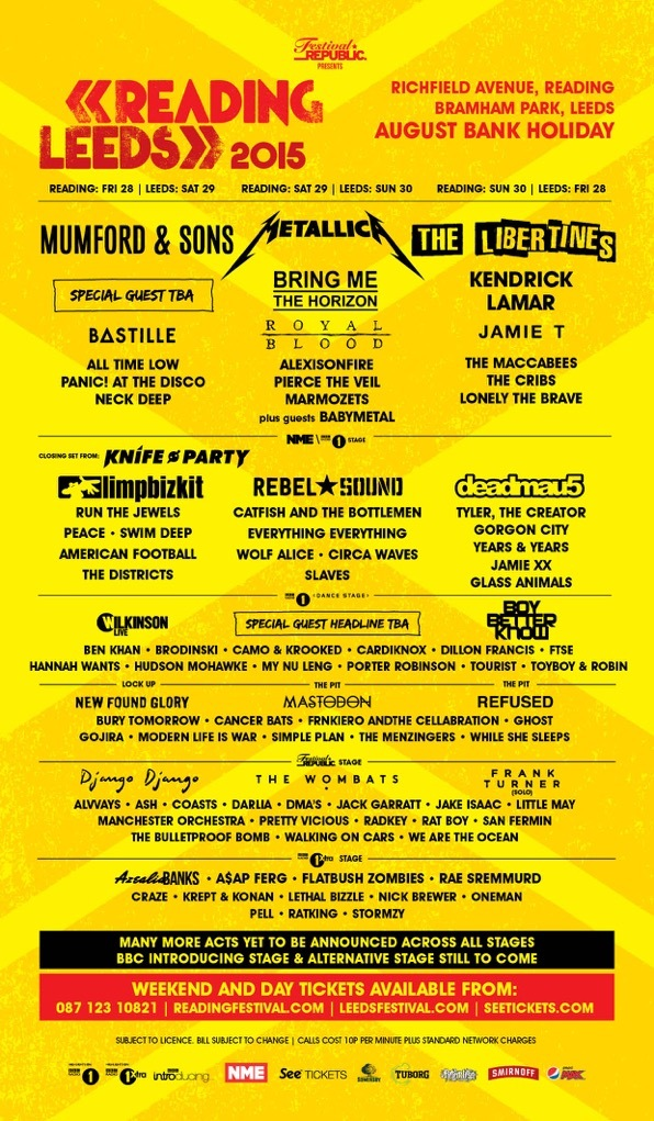 『READING AND LEEDS FESTIVALS 2015』