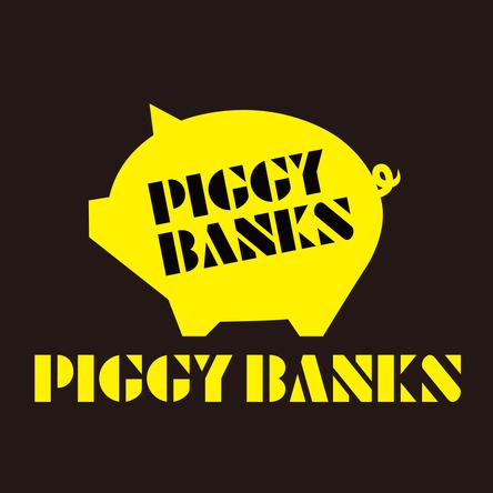 PIGGY BANKS ロゴ (okmusic UP's)