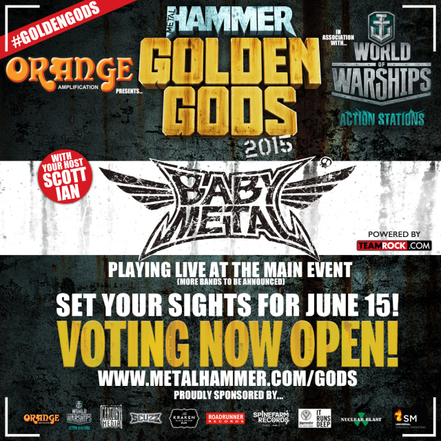 「METAL HAMMER GOLDEN GODS 2015」