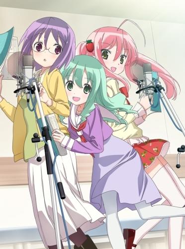 本日7月7日から放送がスタートしたTVアニメ「それが声優!」キービジュアル (C)あさのますみ・畑健二郎/イヤホンズ応援団