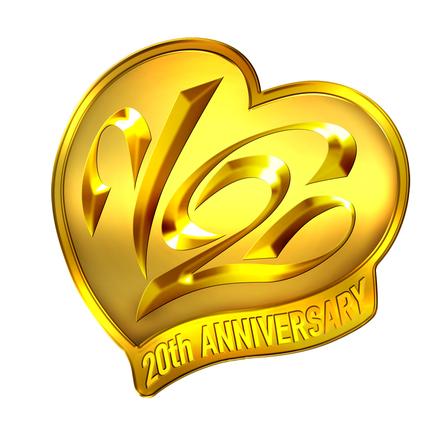 V6 デビュー20周年ロゴ (okmusic UP's)