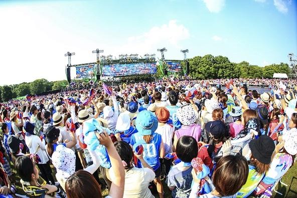 『flumpool 真夏の野外LIVE2015「FOR ROOTS」~オオサカ・フィールズ・フォーエバー』 photo by 渡邉一生 (okmusic UP's)