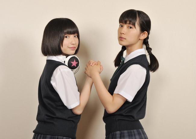 ずんね from JC-WCで期間限定アイドルユニットを組む、蒼波純と吉田凜音  (c)2015女子トイレ清掃組合