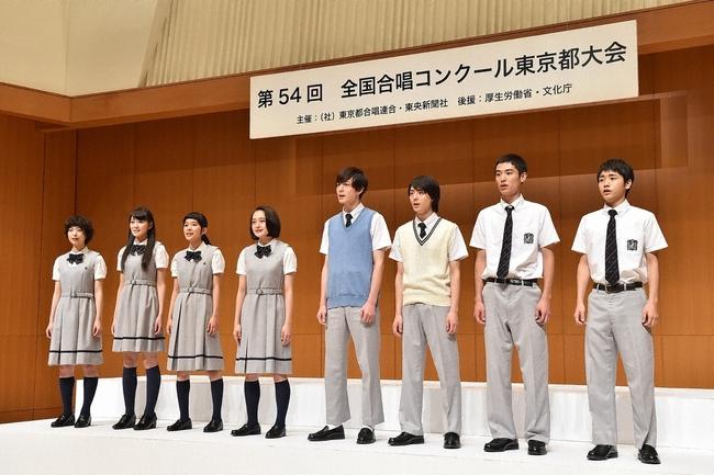 合唱コンクールに出場し、心をこめて「ハナミズキ」を合唱する表参道高校合唱部 (c)TBS