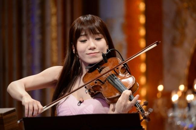 「最強バイオリン王No.1決定戦」に出演する石川綾子 (C)テレビ朝日