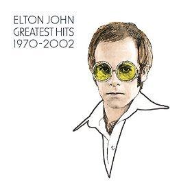 エルトン・ジョン『グレイテスト・ヒッツ 1970-2002』のジャケット写真