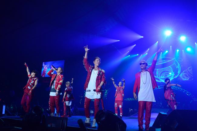 トリを務めた三代目 J Soul Brothers from EXILE TRIBE  (c)テレビ朝日ドリームフェスティバル2015