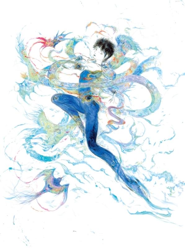 天野喜孝が羽生選手をイメージし、描き下ろしたイラスト