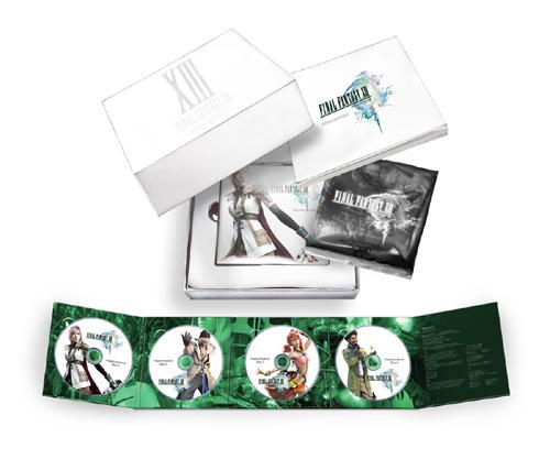 『ファイナルファンタジーXIII オリジナル・サウンドトラック』展開図 ※商品画像はイメージです。実際のものとは異なる場合があります。 (C)2009 SQUARE ENIX CO., LTD. All Rights Reserved. CHARACTER DESIGN:TETSUYA NOMURA