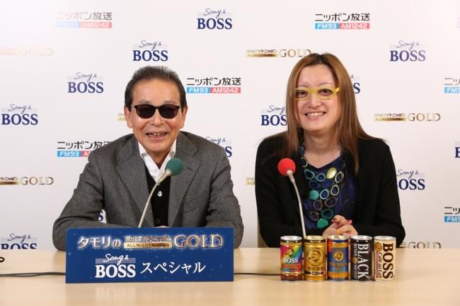 「タモリのオールナイトニッポンGOLD Song&BOSS スペシャル」パーソナリティを担当するタモリと、アシスタントの能町みね子