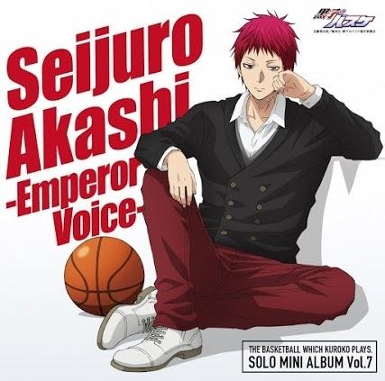 『SOLO MINI ALBUM Vol.7 赤司征十郎 - Emperor Voice -』ジャケット (C)藤巻忠俊/集英社・黒子のバスケ製作委員会