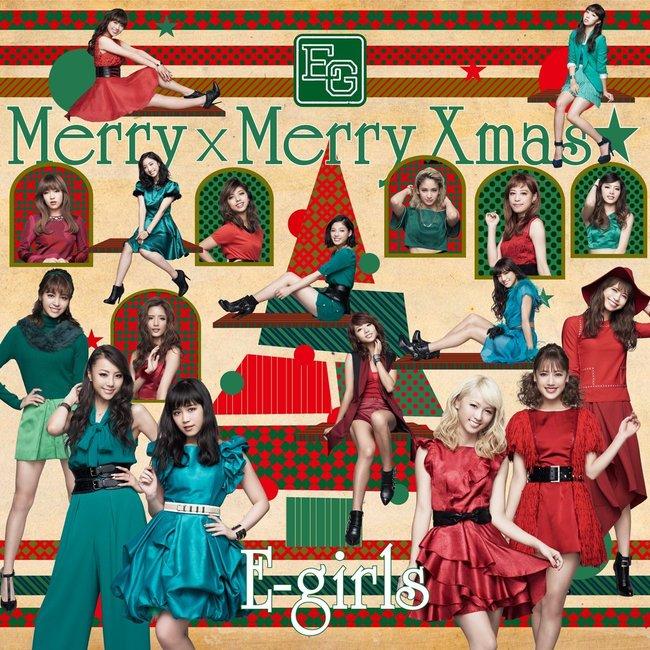 E-girls「Merry × Merry Xmas★」のジャケット写真
