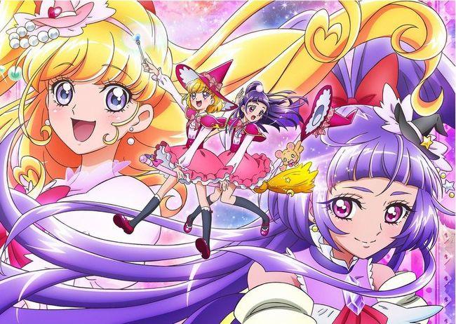 2月7日(日)より放送開始となる新番組「魔法つかいプリキュア!」のキュアミラクル/朝日奈みらい(左)と、キュアマジカル/リコ (C)ABC・東映アニメーション