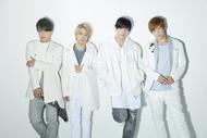 L→R J(Dancer)、Hayato(Vo)、Taka.(Vo)、little Skeet(Dancer) (okmusic UP's)
