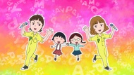 ちびまる子ちゃん&PUFFY キーヴィジュアル (C)さくらプロダクション/日本アニメーション (okmusic UP's)
